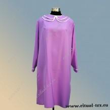 Платье габардиновое с воротничком и манжетами, цвет фиолетовый