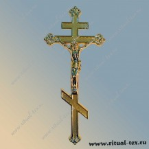 Крест с распятием металлизированный, арт.15505