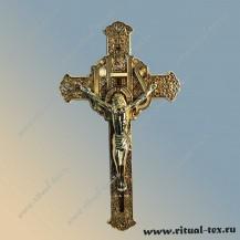 """Крест """"Ажурный"""" с распятием металлизированный, арт.15537"""