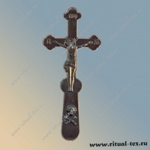 Крест в руку пластм.Т(черн. уп-100шт.), арт.15518