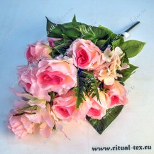 4103 Букет роз с орхидеями и геранью(уп.1шт)