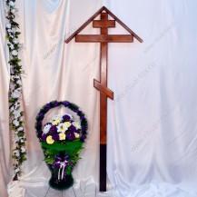 Крест лакированный с домиком