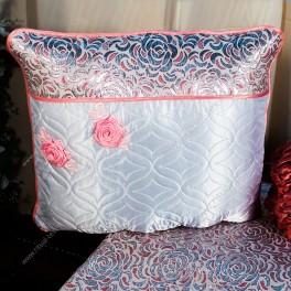 Комплект КАТПА (парча розовая с серебром, аппликация, бейка, цв.фиолетовый)