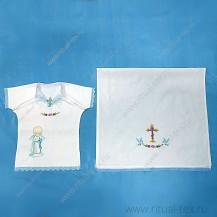 Набор крестильный для мальчика (рубашка, полотенце)