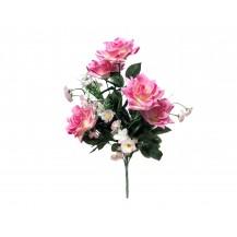 Букет роз с мелкоцветом, 9г, выс.47см