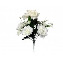 Букет роз с нарциссами, 9г, выс.47см