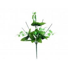 Подбукетник-комплектующий с листьями и добавками, 7г, выс.46см