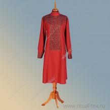"""Габардин """"Рельеф"""", кружевное полотно, цвет бордо, 8926-Bord"""
