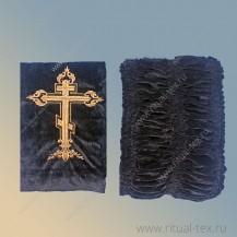 Бархат с вышитым крестом