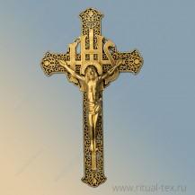 """Крест """"Ажурный"""" с распятием крашеный, арт.15536"""
