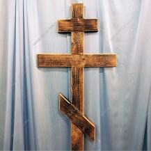 Крест деревянный широкий (обожженный с фаской)