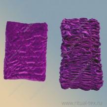 Бархат дешевый, фиолетовый, прострочка