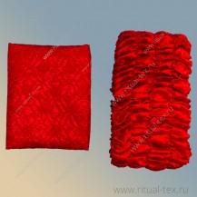 Обивка атлас-жаккард красный, бок атлас