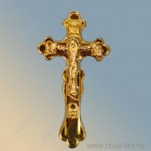 Крест в руку пластм. (золотой) арт. 15516