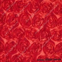 Атлас с нашитыми розами