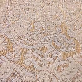 Ткань светлое золото, цветы, огурцы