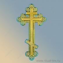 Крест арт. 16112, пластиковый большой ажурный (золото металлизация)