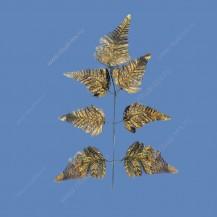 Лист папоротника орляк из парчи (уп. 200 шт) арт. 2073