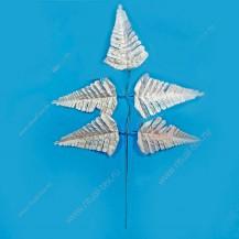Лист папоротника декоративный 5 л серебро арт. 1-339