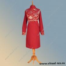 """Габардин """"Кокетка"""", кружевное полотно, цвет бордо, 8925-Bord"""