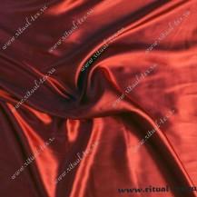 Атлас бордовый плотный 115 г/мп