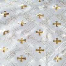 Атлас с накатом, золотой крест