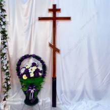 Крест полированный с окантовкой