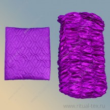 Атлас термостежка фиолетовый, бок атлас
