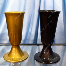 Ваза с подставкой пластиковая, 26,5 см, арт. ВП-01