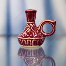 Подсвечник Узор красный керамический арт. К-070