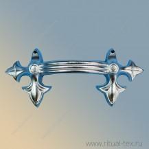 """Ручка для гроба """"Лилия"""" металлизированная, серебро, арт. 16005"""