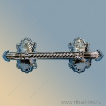 "Ручка для гроба , ""Саркофаг"", металлизированная серебро, арт. 16002"